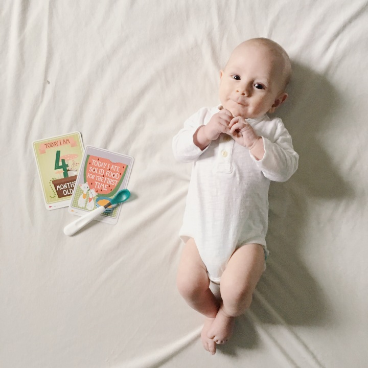 4 months + Levi's first solidfood!